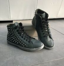 Green Leather Stud Ankle Boots Trainers Size 5/39 Italian