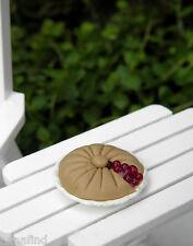 Miniature Dollhouse Fairy Garden Accessories ~ Two-Crust Cherry Pie ~ New