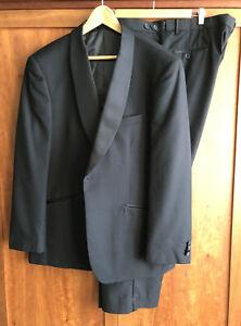 "ALEXANDER DOBELL TUXEDO/BLACK TIE EVENING SUIT 46R Jacket Trousers 44S 29""Leg"