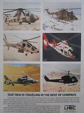 1991-92 PUB LHTEC ALLISON GARRETT T800 ENGINE LYNX HH65 USCG PANTHER A129 AD