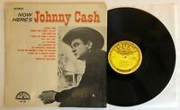 Now Here's Johnny Cash - 1961 US Mono 1st Press (EX) In Shrink Ultrasonic Clean