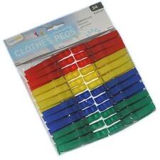 Comprar 3 GET 1 GRATIS Paquete De Plástico 24 PINZAS DE TENDER ROPA TENDEDERO