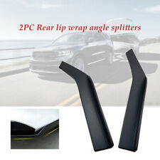 2X 62cm ABS Car Bumper Spoiler Anti-crash Rear Lip wrap Angle Splitter Diffuser