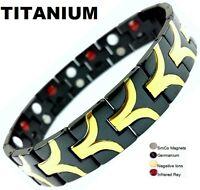 TITANIUM Magnetic Energy Germanium Armband  Power Bracelet Health Bio 4in1 Bio