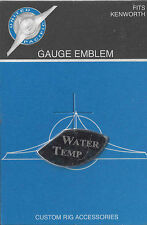 gauge emblem water temp 1/3 moon stainless etched block lettering for Kenworth