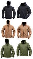 Mens Military Army Combat Recon Hoodie Fleece Hoodies Sweat Zip Jacket S - XXXL