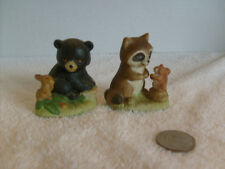 Home Interior Racoon and Bear figurines Cute # 1418