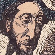 Portrait XIXe Caricature Alfred Darimon André Gill Second Empire Député