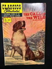 Classics Illustrated #91 Call of the Wild by Jack London (Hrn 92) 1st 1952 Fine