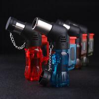 Windproof Triple Torch Jet Flame Refillable Butane Gas Cigar Cigarette Lighter .
