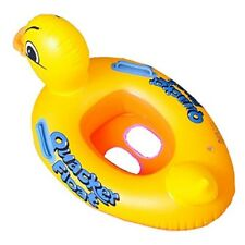 Baby Inflatable Pool Swim Float Seat Swimming Duck Aid Boat Ring YELLOW