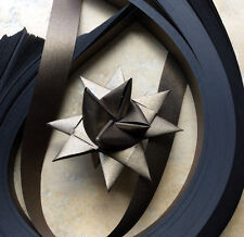 Paper Strips to make 3D Stars (Moravian Froebel Quilling) Bronze Sheen 1 in wide