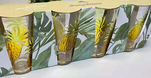 Tommy Bahama Acrylic Pineapple Tumblers High Ball Glasses 22.5 oz Outdoor New 4
