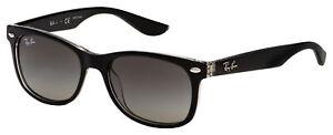 Ray-Ban Junior Sunglasses RJ 9052S 702211 47 Black / Clear | Grey Gradient Lens
