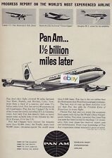 PAN AM 1961 1 1/2 BILLION MILES LATER SINCE FOKKER F-7 TO BOEING 707 JET  AD
