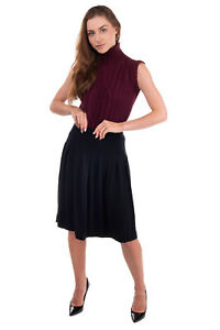 RRP €410 PIERRE BALMAIN Knitted Pleated Skirt Size M-L Cashmere & Angora Blend