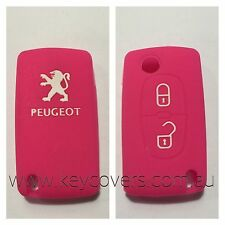 PEUGEOT 207 307 308 407 PINK PURPLE CAR KEY COVER CASE HOLDER NEW REMOTE