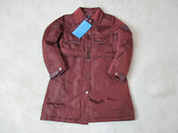 NEW Piquadro Trench Coat Jacket Womens Small Size 6 EUR 40 Red Puffer $585