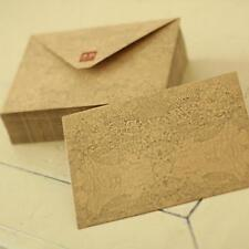 10Pcs Vintage Retro Kraft Paper Envelope Business Festival Card  High Quality