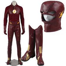 2016 HOT Movie The Flash Season 2 Barry Allen Superhero Cosplay Costume Unisex