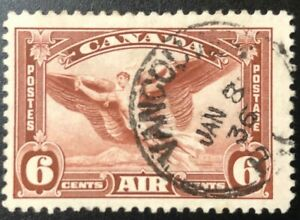 CANADA 1935 # C5 - AIR MAIL 6cent RED BROWN - CDS CANCEL USED
