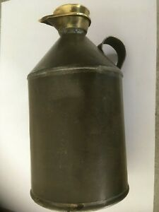 Small Vintage Oil Can With Brass Lid
