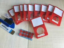 10X Red Front Faceplate Housing Case Cover + Button iPod 5th Video 30/60/80Gb