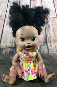 Baby Alive Super Snackin' Sara Bilingual Doll 2014 Batteries Included Good Shape