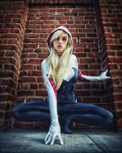 Women 3D Fancy Jumpsuit Comicon Cosplay Costume Party Spider Gwen Stacy Zentai&