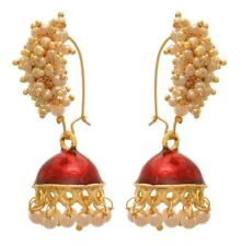 New Indian Handmade Collection Vintage Red Dangle Earrings For Girls