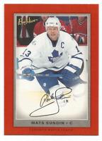 2006-07 UD Beehive Red Facsimile Signatures #5 Mats Sundin Toronto Maple Leafs
