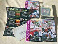 Sega Game Gear NFL QUARTERBACK CLUB 96 + Box, Manual & ALL Inserts! Tested Works