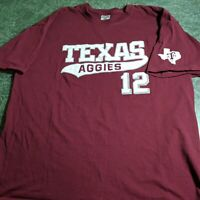Texas A&M 12 T-shirt Adult Short Sleeve Maroon XL College Aggies University
