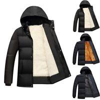 Men's Winter Cotton Coat Outwear Down Jacket Fashion Warm Hoodie Hooded Parka