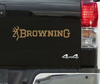 2 BROWNING Fishing BUCKMARK DEER HEAD STAG STICKERS DECALS SHOOTING 50cm
