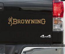 2 BROWNING Fishing BUCKMARK tête de cerf cerf Stickers Autocollants tir 50 cm