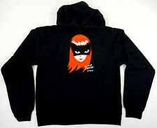 EMILY THE STRANGE Cat Face Long Sleeve Hoodie Pockets Hoody JUNIORS LARGE NWT