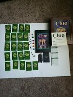 2012 Vintage Edition Bookshelf Game CLUE Wood Box Parker Brothers Complete