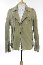 Balmain Beige Cotton Long Sleeve Motorcycle Jacket Size Large $1860 New 113745