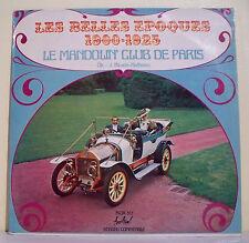 """33T LE MANDOLIN' CLUB DE PARIS Disque LP 12"""" LES BELLES EPOQUES 1900 1925 Tacot"""