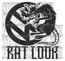 RAT Look media dall'aspetto Ratti Rat Rod Hot Rod ruggine Decalcomania Sticker Vinyl VW Golf T4 T5