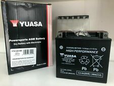 Yuasa YTX14H-BS 12V Batteria Senza Manutenzione ad Elevate Prestazioni - Nera