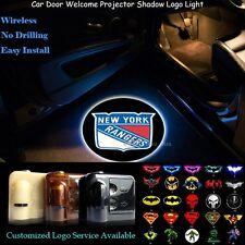2x Wireless New York Rangers Logo Car Door Projector Ghost Shadow CREE LED Light