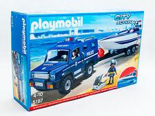Playmobil 5187 City Action Polizei-Action mit Truck und Speedboat Polizei Set