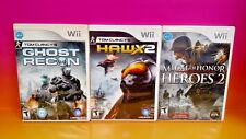 Tom Clancy's HAWX 2, Ghost Recon, Medal of Honor Heroes 2 -Nintendo Wii 3 Games