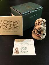Harmony Kingdom 'Fusspot' Shar-pei Dog W/Wrinkle Cream 2000 #Tjho4-New In Box!