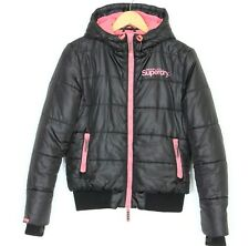 SUPERDRY SPORT Double Blacklabel Hooded Puffer Jacket Women Size M