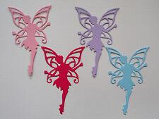 Fairy Paper Die Cuts x 10 Girls Birthday Scrapbooking Card Topper Embellishment