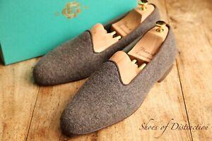 Men's Edward Green Brown Wool Slippers Shoes UK 10 US 10.5 EU 44 Last 389