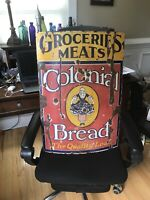 1920s Colonial Bread Porcelain Sign